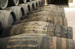 Barils pour le whiskey ou le vin Image libre de droits