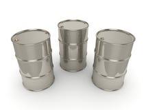 barils réglés de chrome du rendu 3D Images stock
