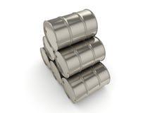 barils réglés de chrome du rendu 3D Photo stock