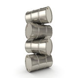 barils réglés de chrome du rendu 3D Photo libre de droits