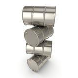 barils réglés de chrome du rendu 3D Image stock