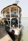 Barisal, Bangladesh, February 27 2017: View of the bow and first class of The Rocket ship. Barisal, Bangladesh, February 27 2017: View of the bow and first class Royalty Free Stock Photography