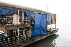 Barisal, Bangladesh, il 27 febbraio 2017: Il Rocket - un vapore di pagaia antico immagini stock libere da diritti