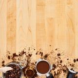 Barista概念或咖啡背景 库存图片