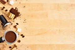 Barista概念或咖啡背景 库存照片