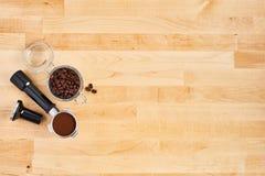 Barista概念或咖啡背景 图库摄影