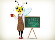Barista Bee Fotografie Stock