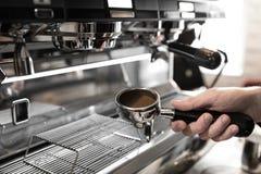 Barista Cafe Making Coffee Preparation Service Concept.  Stock Photo
