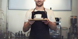 Barista Cafe Making Coffee Preparation Service Concept Stock Photos