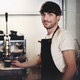 Barista Cafe Making Coffee Preparation Service Concept Royalty Free Stock Photography