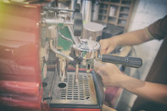Barista Cafe Making Coffee Preparation Royalty Free Stock Image