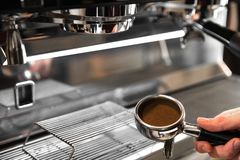 Barista Cafe Making Coffee Preparation Service Concept.  Royalty Free Stock Images