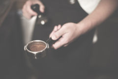 Barista Coffee Brewing Grind Professional Concept Stock Image