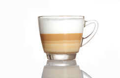 Barista coffee cup isolated over white Royalty Free Stock Image