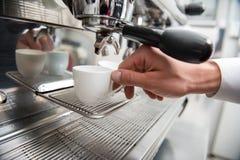 Barista and coffee machine Stock Photography