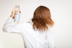 Barista dai capelli lunghi che scuote testa Fotografia Stock