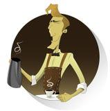 Barista effectuant le café Illustration Stock