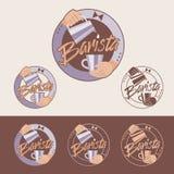 Barista-Emblem Stockbilder