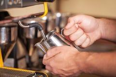 Barista Espresso Preparation Fotografia Stock Libera da Diritti