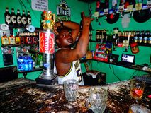 barista kenya Fotografia Stock Libera da Diritti
