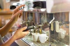 Barista making coffee Stock Image