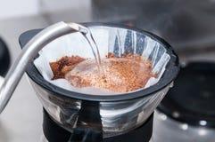 Barista Prepare Coffee Working beställningsbegrepp royaltyfri bild