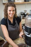 Barista Preparing Coffee In Cafe Stock Photography