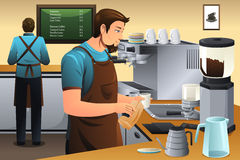 Barista Preparing Drip Coffee Royalty Free Stock Image