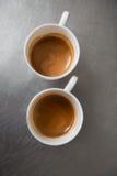 Barista que faz seu café Foto de Stock