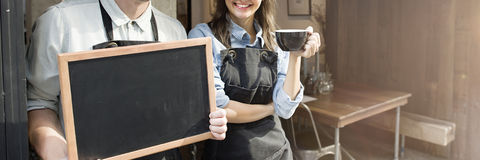 Barista Staff Working Coffee Shop Concept Stock Images