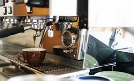 Barista Steam Coffee Chill della bevanda che sveglia concetto fotografia stock libera da diritti