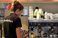 Barista at work Royalty Free Stock Photo