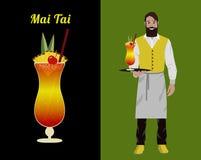 Baristi del cocktail royalty illustrazione gratis
