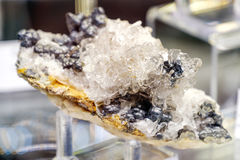 Barite mineral baryte goethite Royalty Free Stock Photos