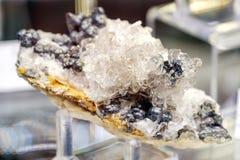 Barite mineral baryte goethite. Stone Royalty Free Stock Photos