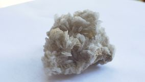 Barite Mineral Sample. View of Barite geological rock sample stock footage