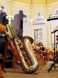 Baritone saxophone Stock Photos