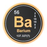 Barium Ba chemical element. 3D rendering. Isolated on white background vector illustration