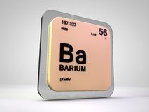 Barium - Ba - chemical element periodic table Stock Photography