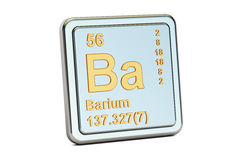 Barium Ba, chemical element sign. 3D rendering Stock Image