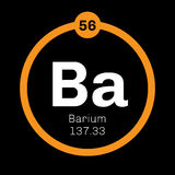 Barium chemical element Royalty Free Stock Photography