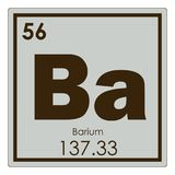 Barium chemical element Royalty Free Stock Photo