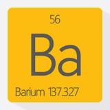 Barium. Vector illustration of the symbol for barium stock illustration