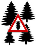 Bark-beetle attention sign Royalty Free Stock Image