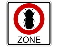 Bark-beetle traffic sign. Detailed and colorful illustration of bark-beetle traffic sign Royalty Free Stock Photography