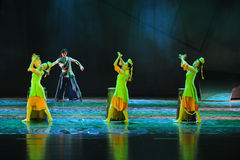 Bark drum combination-The dance drama The legend of the Condor Heroes Royalty Free Stock Photo