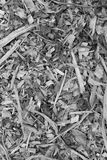 Bark, leaves and wood chippings background. Bark, leaves and wood chippings mulch as an abstract coarse background texture royalty free stock photos