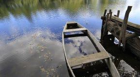 Bark on river Dordogne, Beaulieu, France Royalty Free Stock Photography