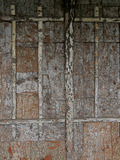 Bark on the wall as decoration Royalty Free Stock Photos