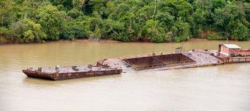 barka kanał Panama obraz royalty free